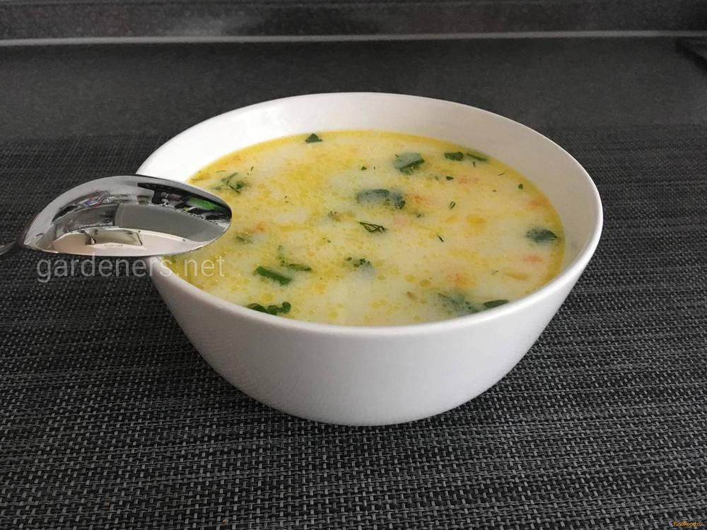 Луковый суп с плавленым сыром