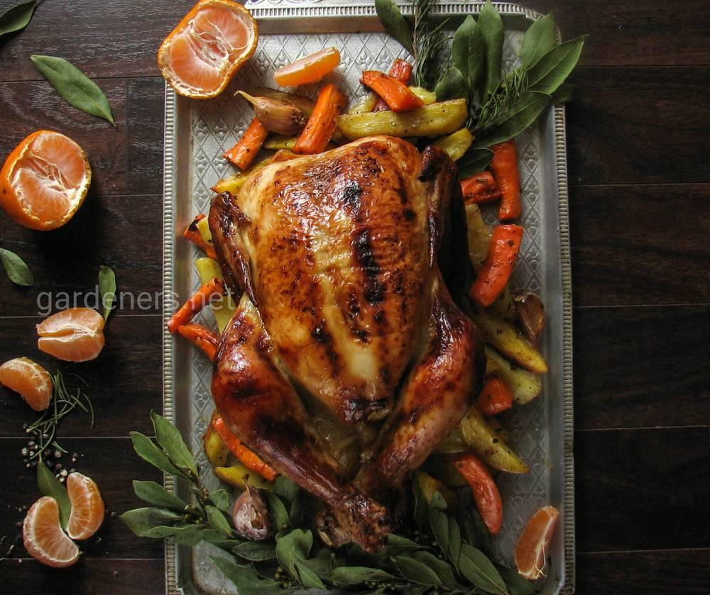 Курица в мандариновой глазури