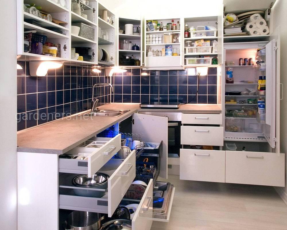 Организация шкафов на кухне