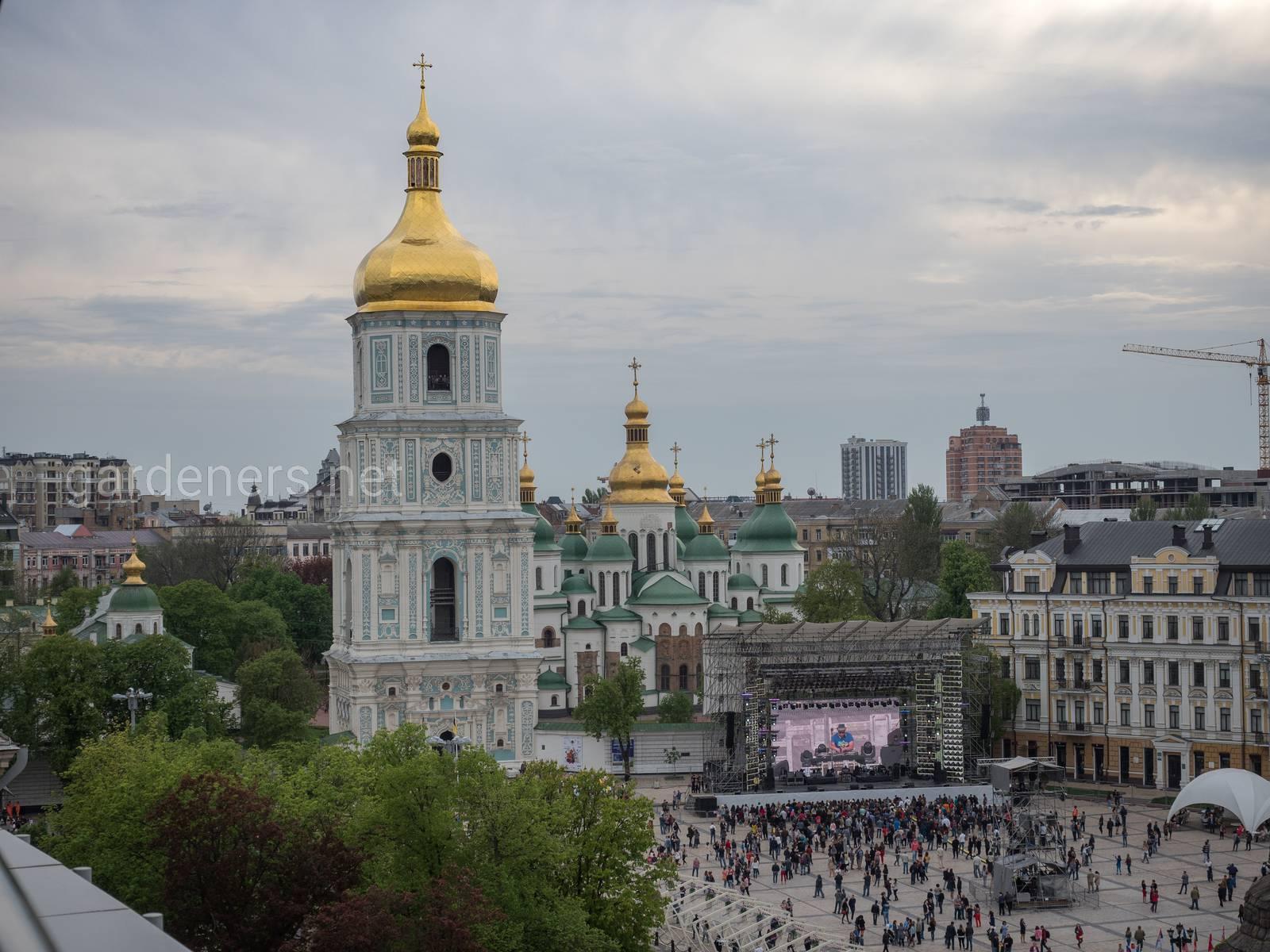 Зееный Киев. Софиевский Собор