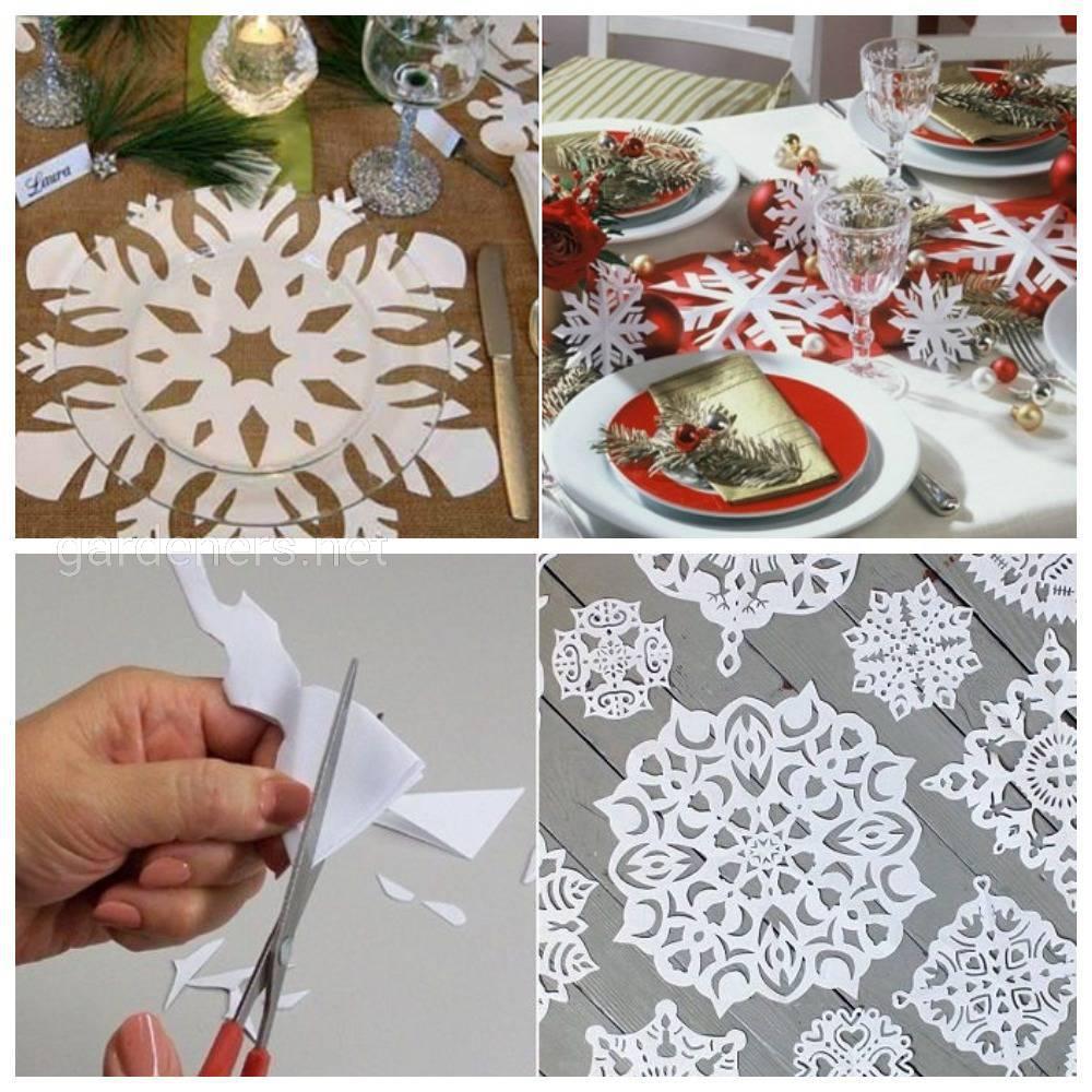 Изобилие снежинок на столе – бесспорное праздничное настроение. 1