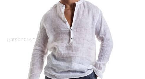 Мужская льняная рубашка. 42-74+ размер плюс сайз, батал