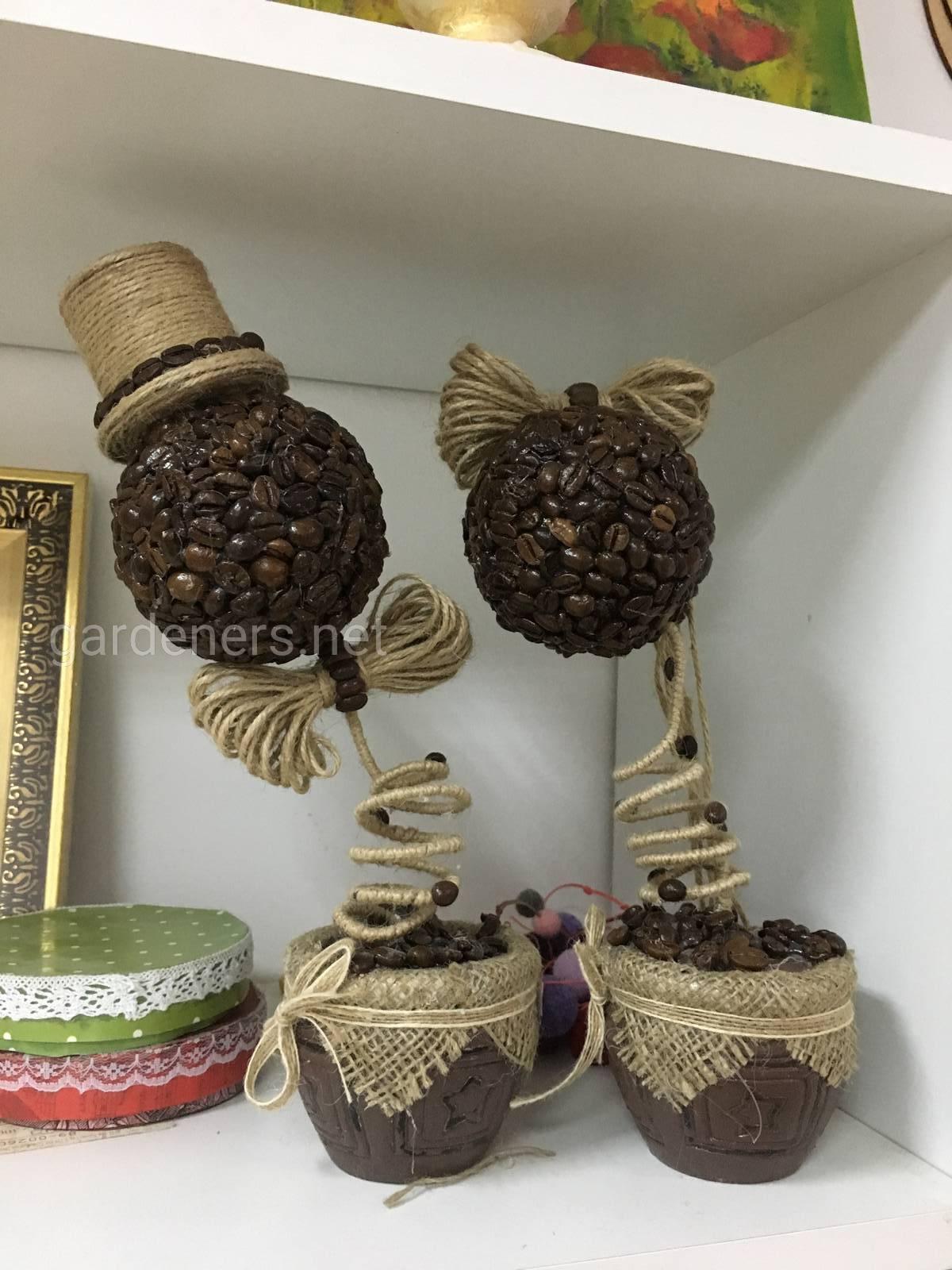 Варианты использования кофе для декора Handmade