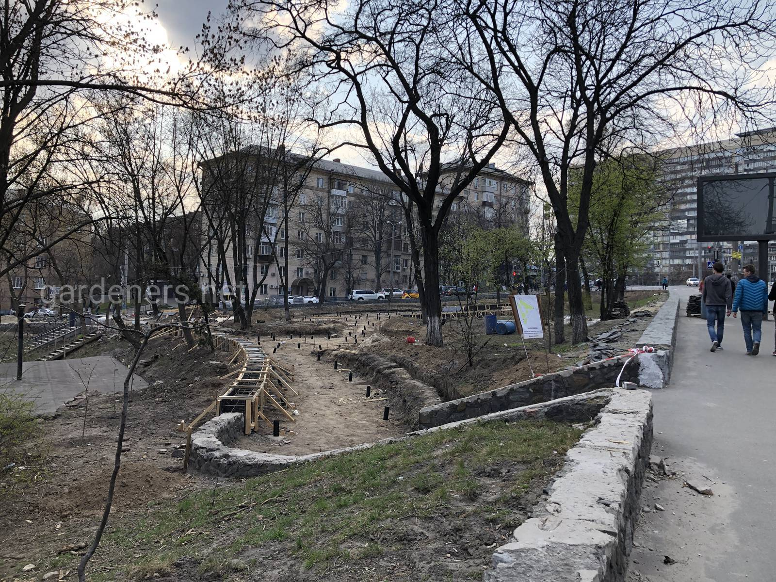 Создание нового парка, Киев, Украина