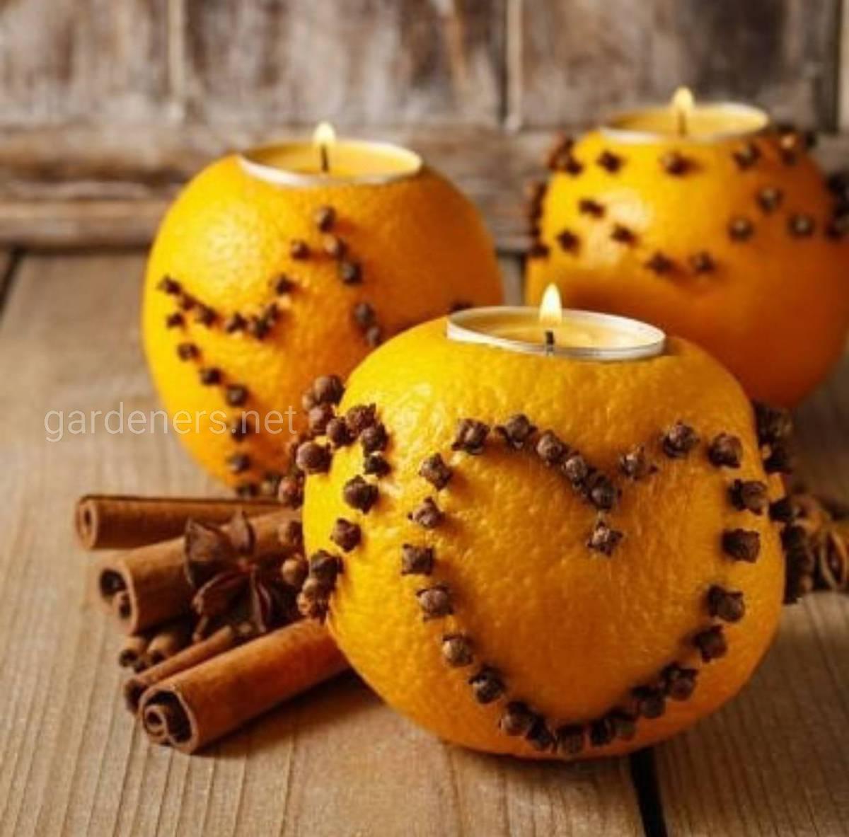 апельсиновая свеча