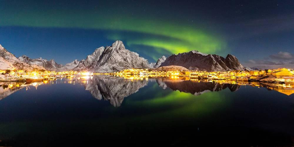 Северное сияние в Норвегии