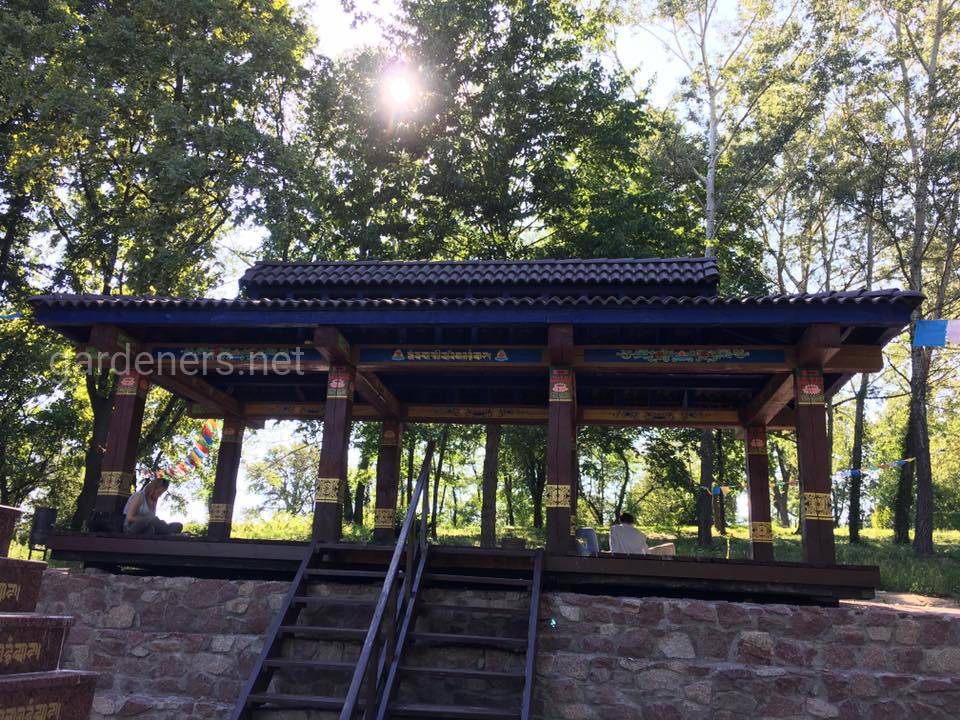 Буддийская пагода вБотаническом саду им Гришка