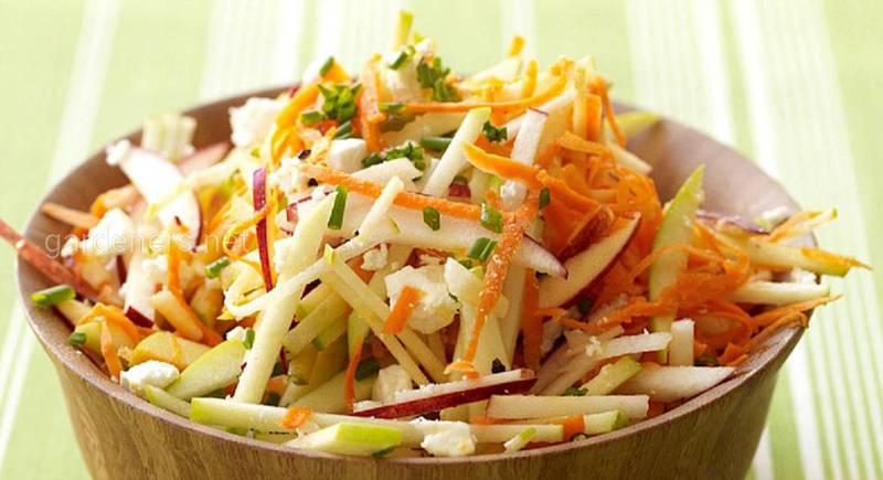 Рецепт салата из моркови и яблок