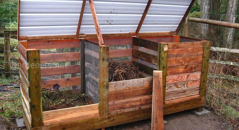 Ящик для приготування компосту: як власноруч побудувати ємність для виробництва органічних добрив
