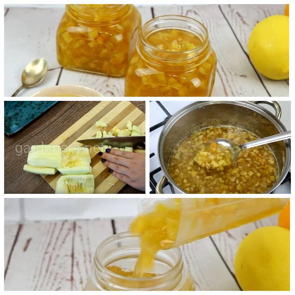Варенье с лимоном и кабачками «Цукаты»