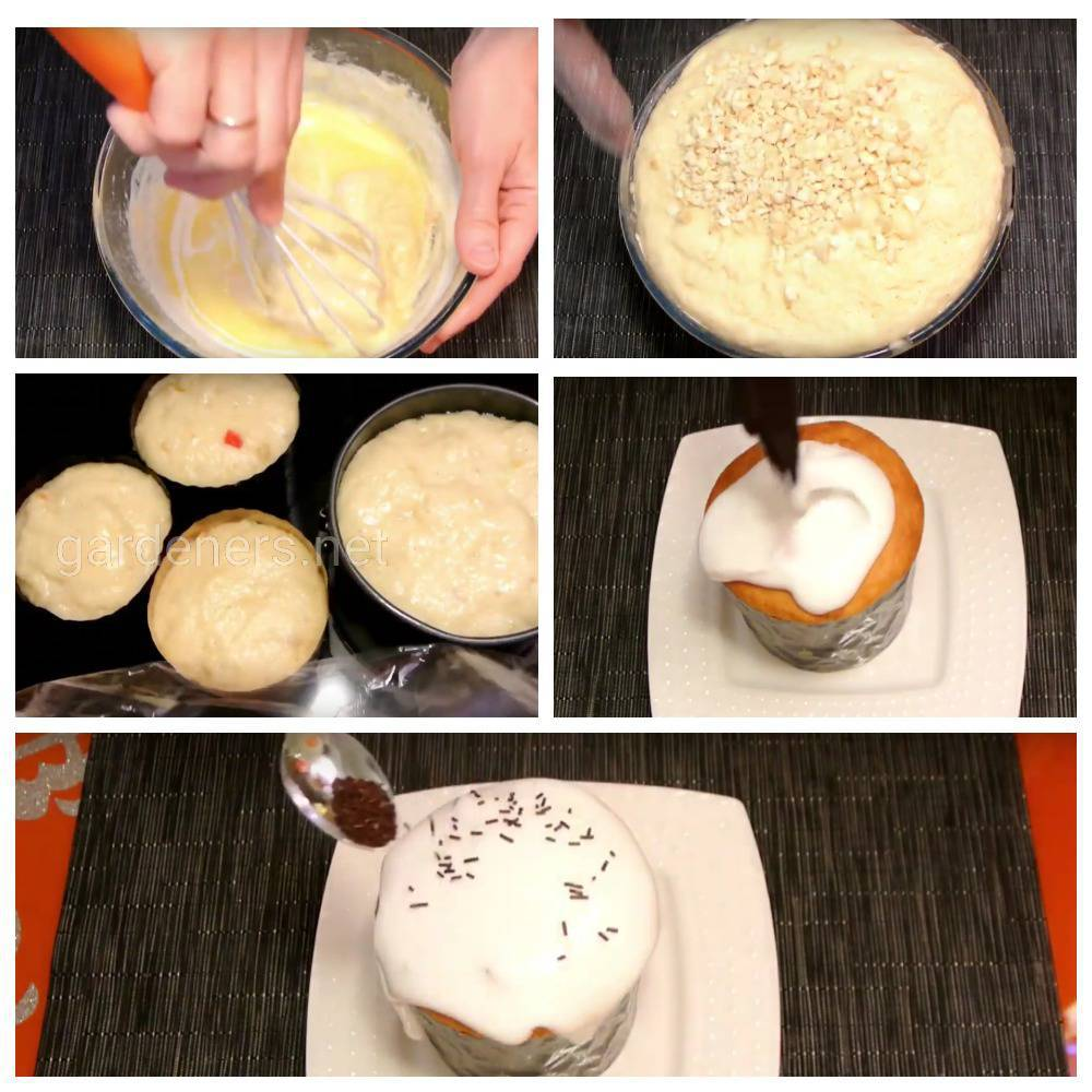 Рецепт пасхального кулича «Миндалина»