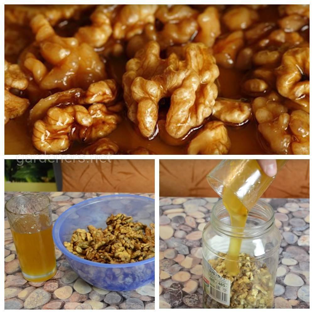 Чтобы восстановились силы мед с орехами