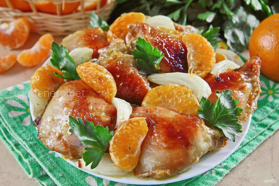 Курица с мандаринами плюс имбирь