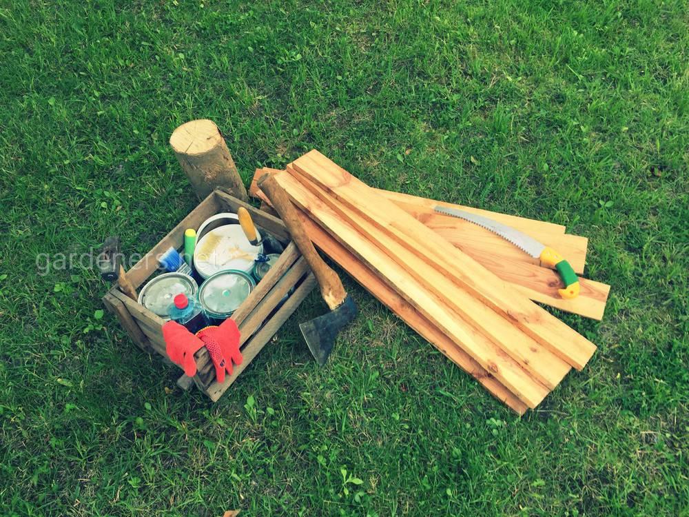 Изготовление садовой скамейки. Подготовительный этап