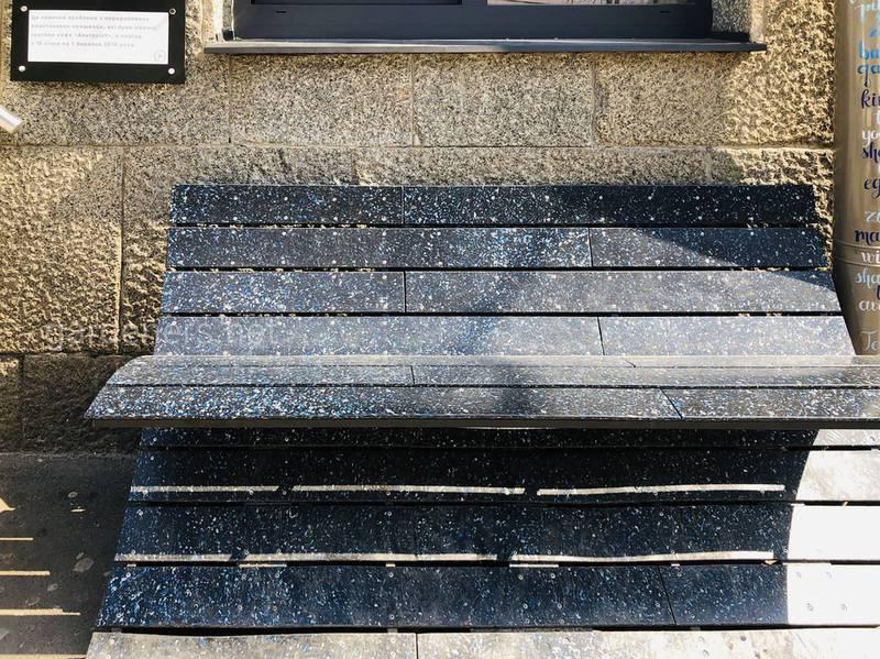 37,5 кг пластиковых крышечек превратились в пластиковую скамейку Альтруист