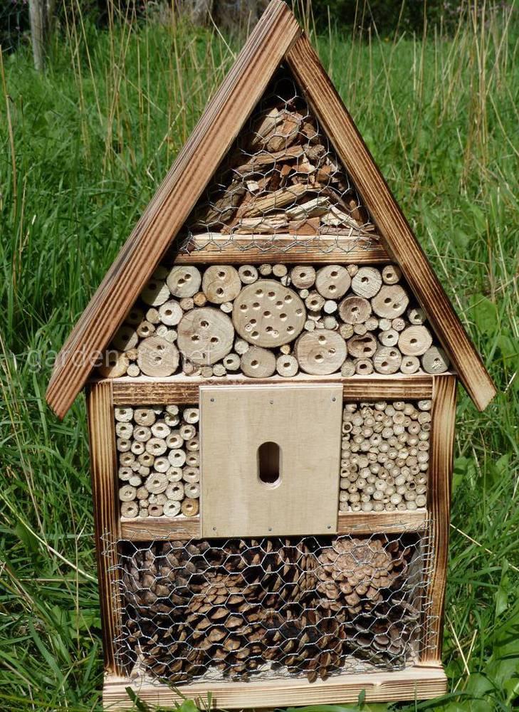 Помогите опылителям! Поместите отель насекомых в вашем саду