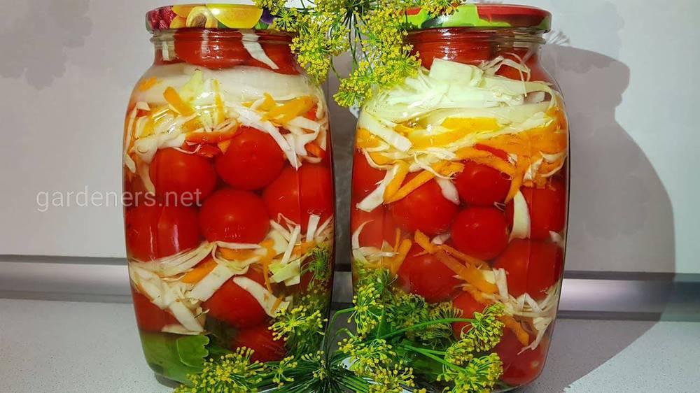 Солоні помідори і капуста