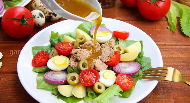 """Полезный салат """"Нисуаз"""" с тунцом. Рецепт"""