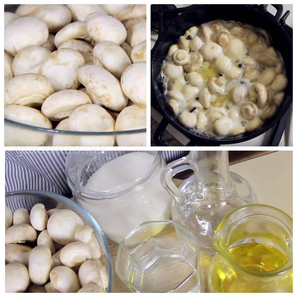 Рецепт маринованных грибов с уксусом