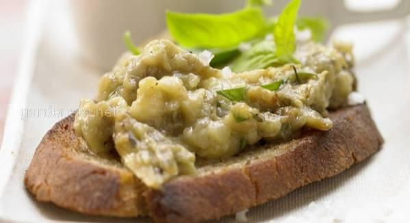 Рецепт брускетта з пастою з баклажана