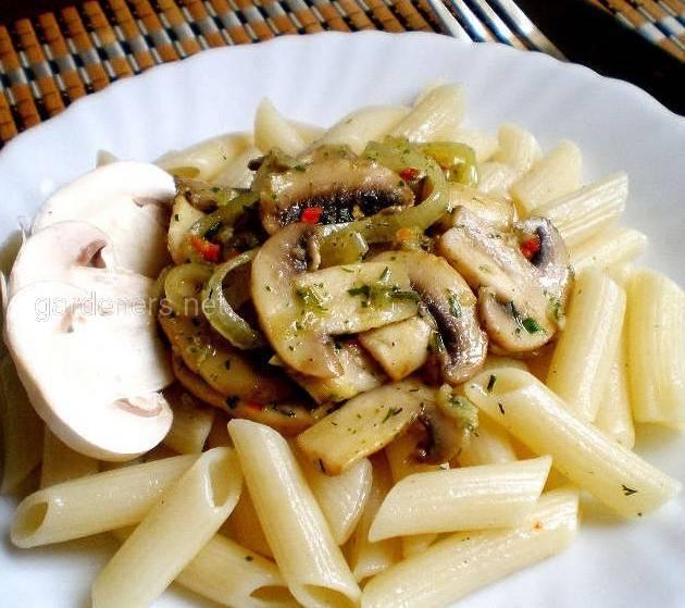 Рецепт приготовления макарон с грибами