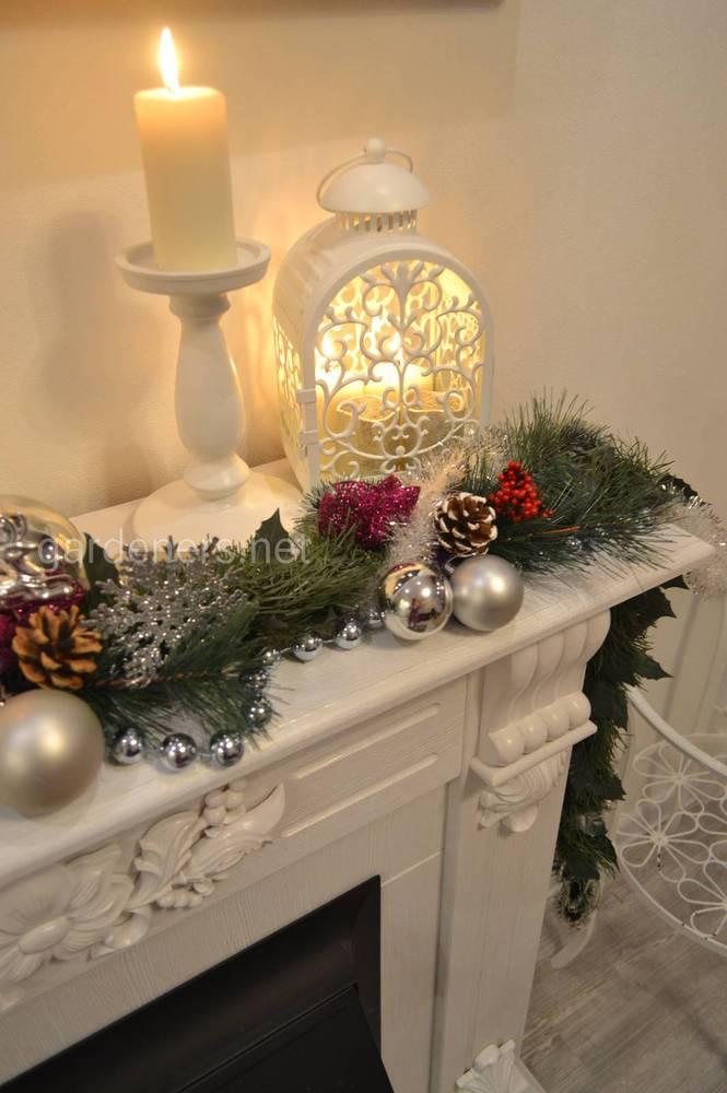 Різдвяна гірлянда для каміна власними руками