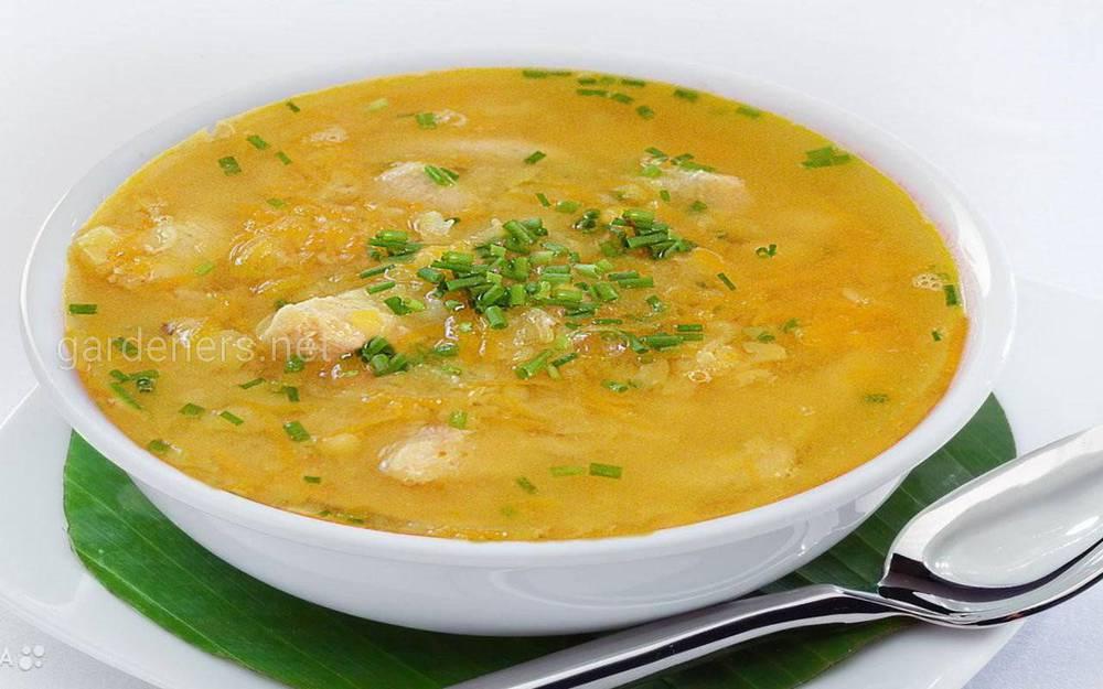 Суп из гороха с курицей