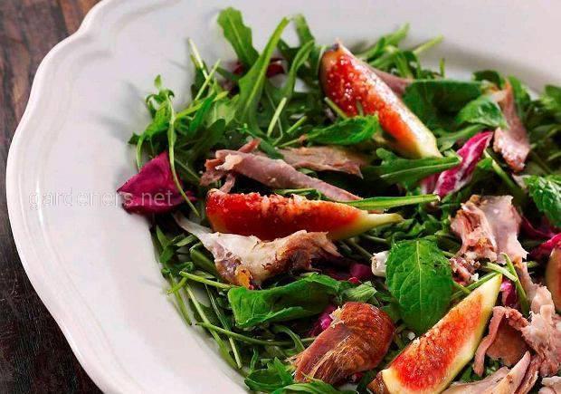 Салат из баранины с цитрусовой заправкой