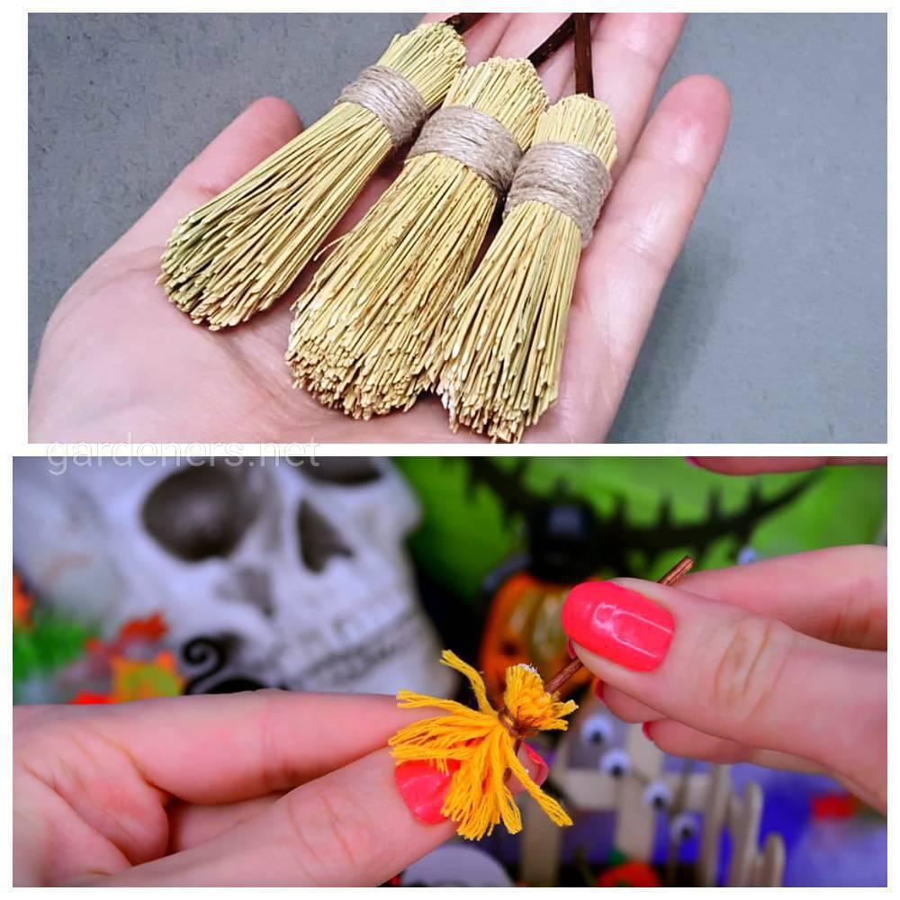 Миниатюрная метелка для декора