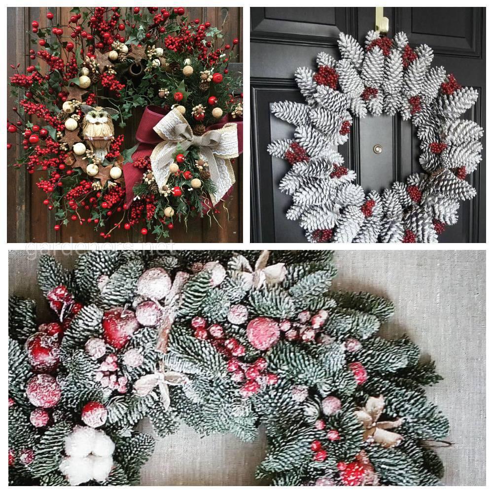 Рождественские венки в экологическом стиле