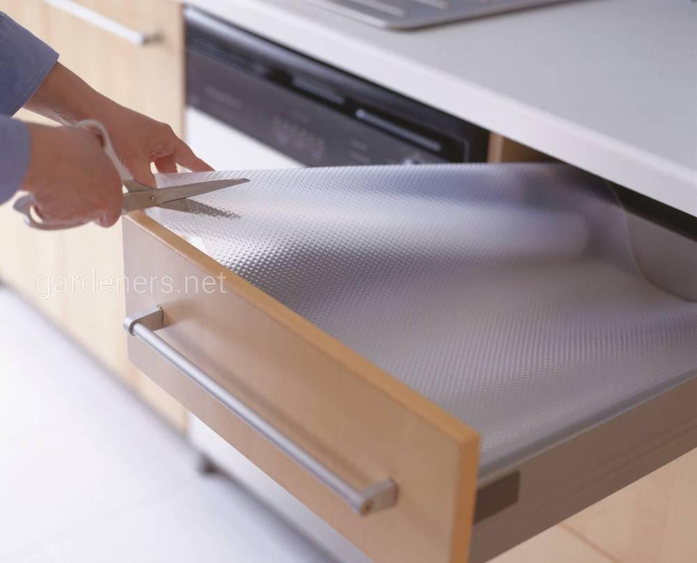 коврики в ящики на кухне