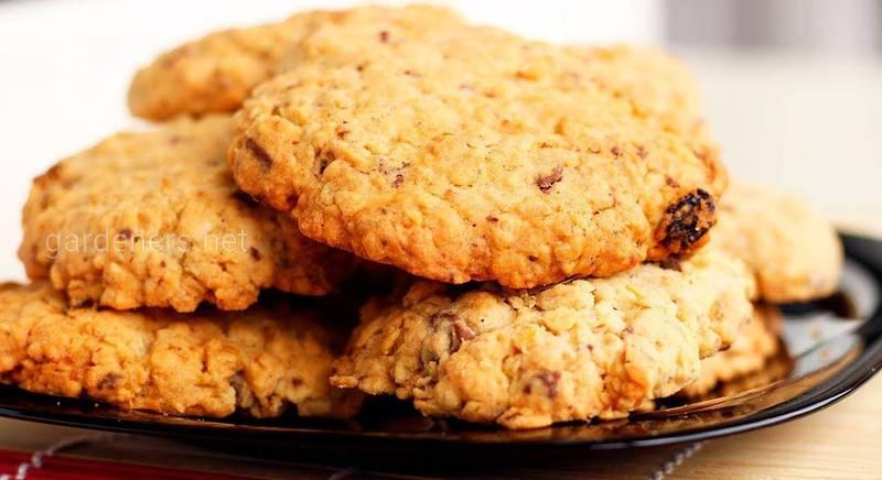 Полезное печенье из овсяных хлопьев