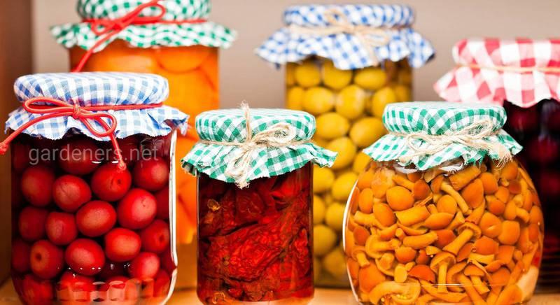 Смачні й корисні рецепти консервацій