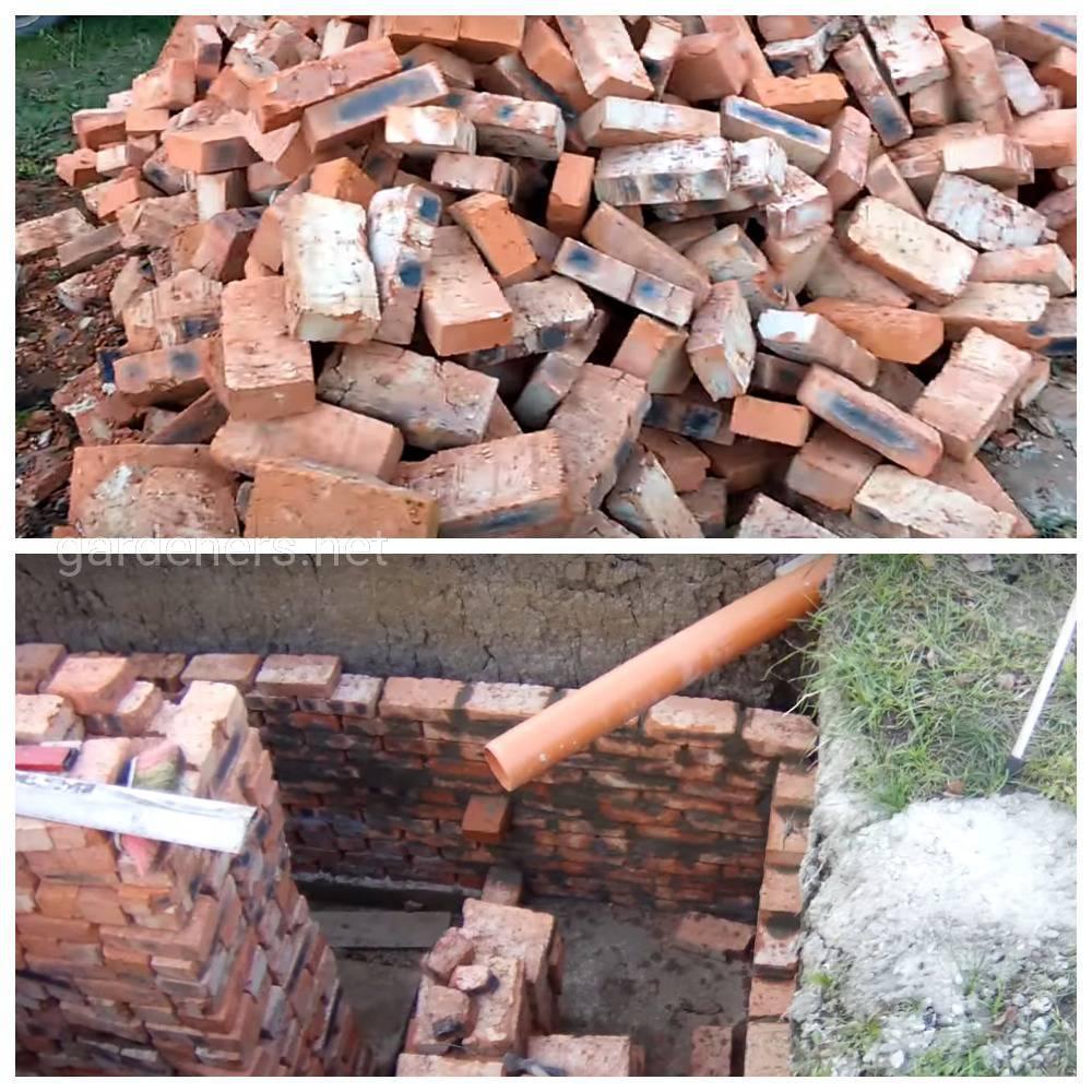 Материал для кладки сливных ям и очистительных сооружений