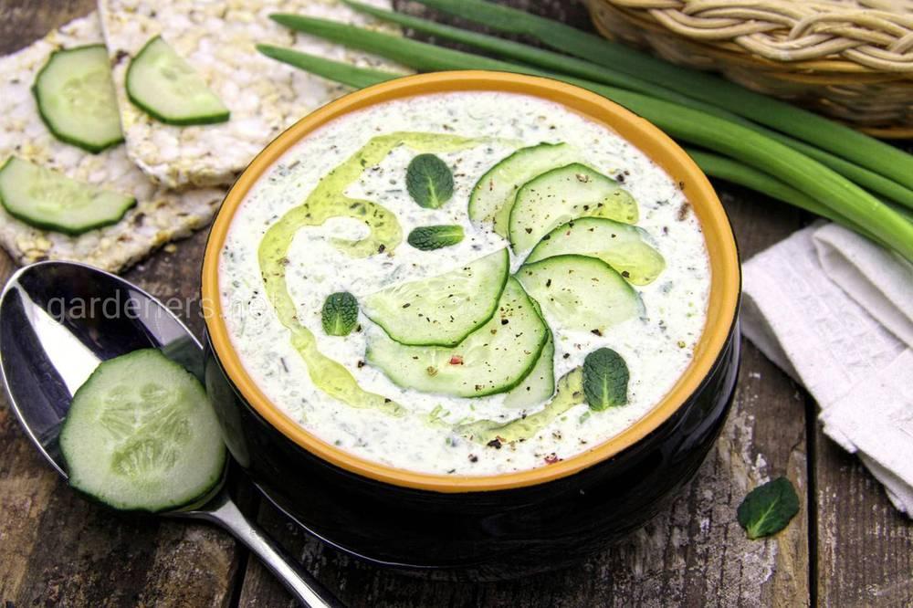 Мятный суп с огурцом