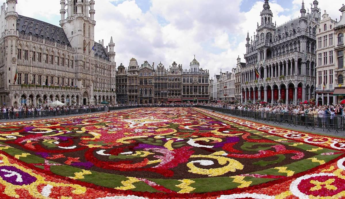 цветочный ковер Брюссель