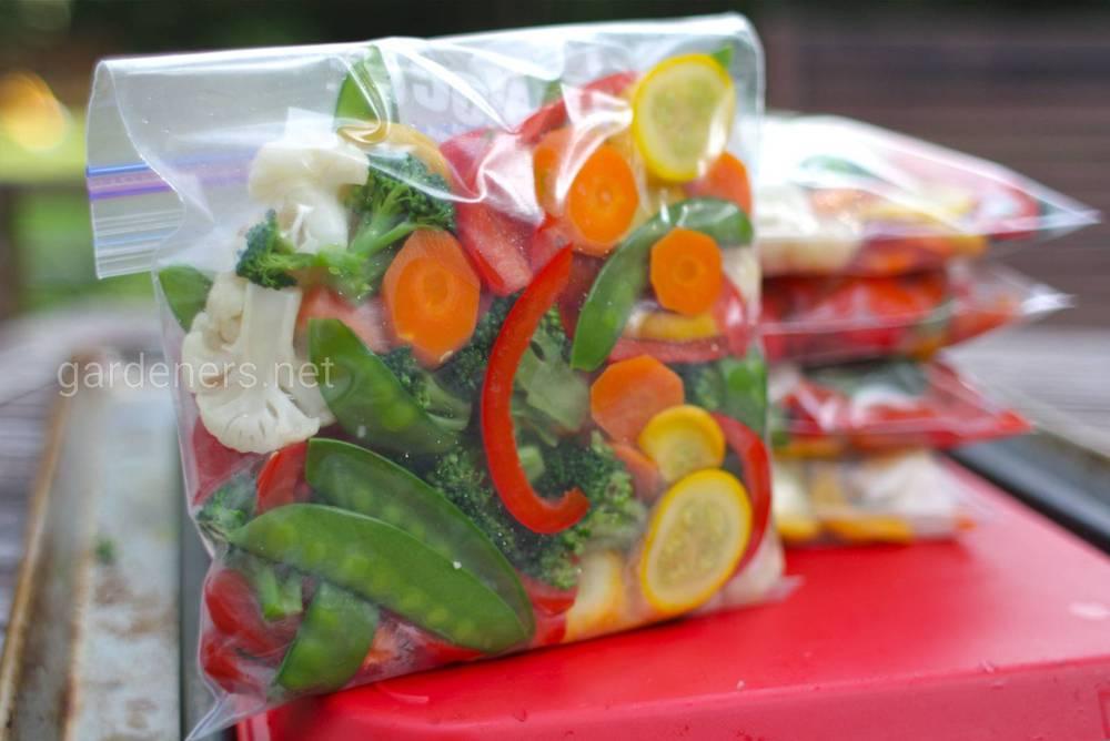 Заморожування овочів
