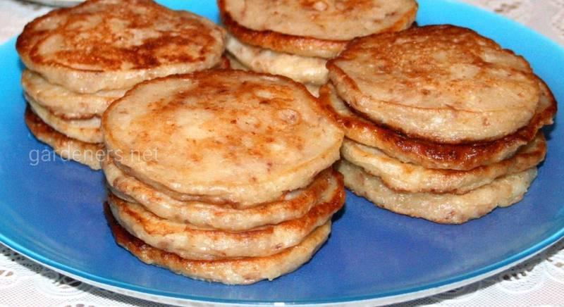 Яблучні пп-оладки з гречки. Рецепт