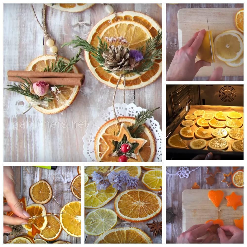 декоративные кольца из сушеных апельсинов