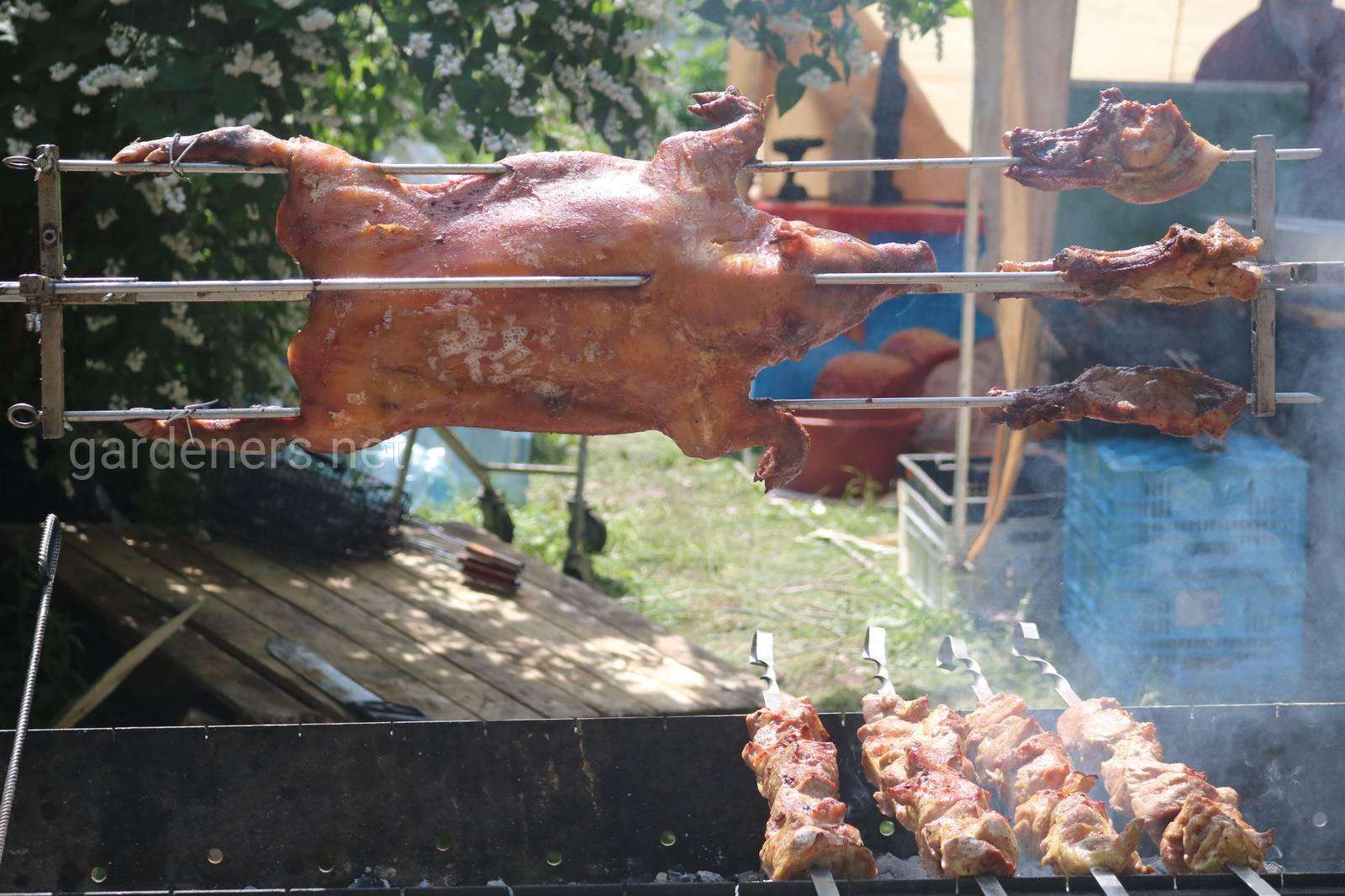 Приготовления мяса на костре