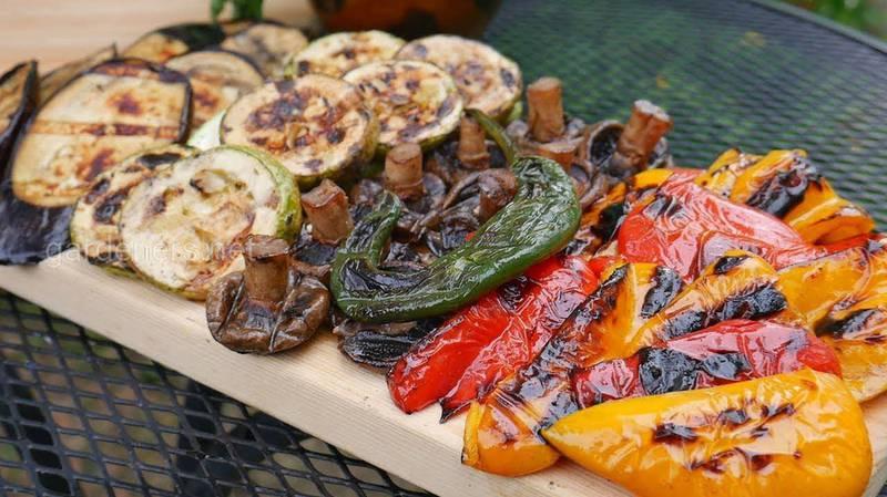 Маринованные палочки из овощей для запекания на гриле. Рецепт