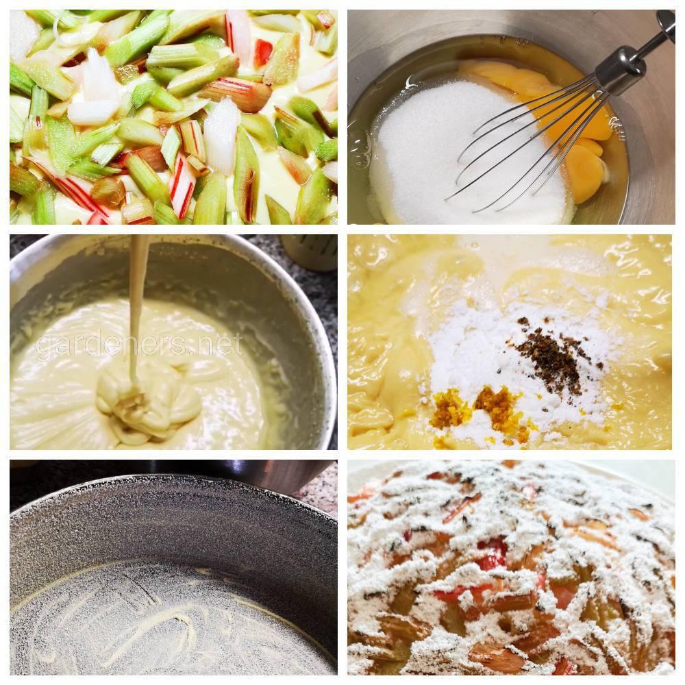 Испеките себе вкусный и полезный пирог с кисло-сладкой начинкой из ревеня.