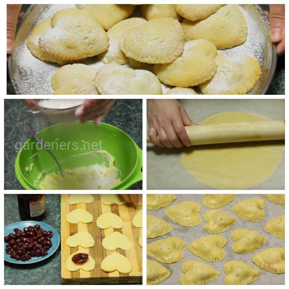 Американское печенье с вишневой начинкой