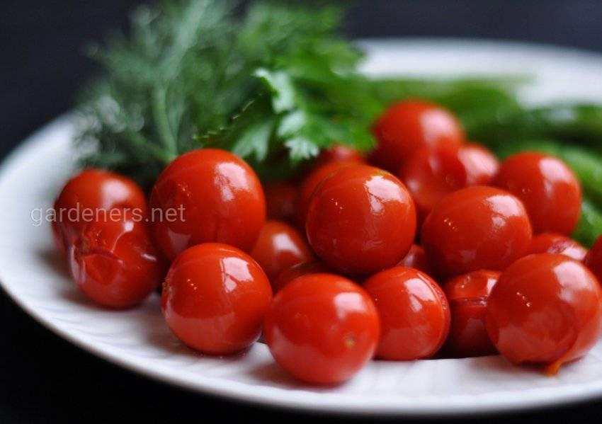 Черри в соке из сладких помидор