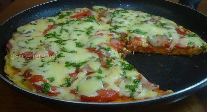 Піца на сковороді. Рецепт