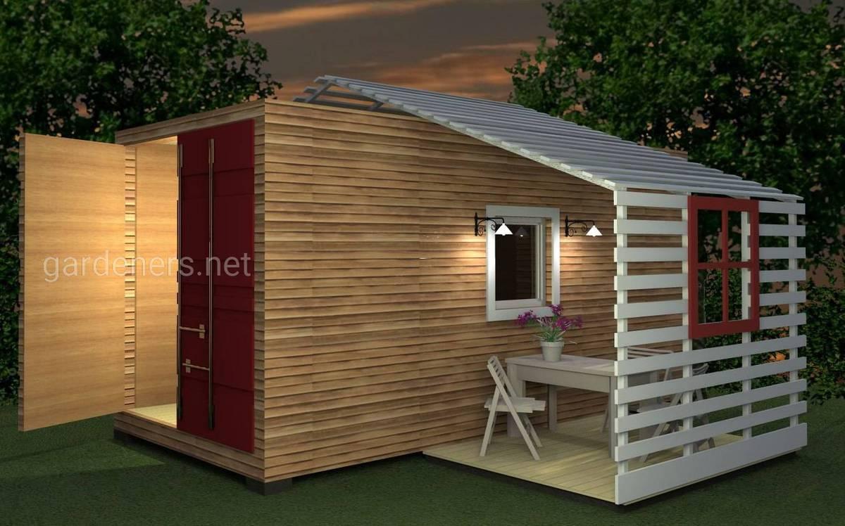 Бюджетный вариант дачного дома из контейнера
