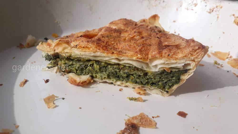 пирог со шпинатом с теста фило