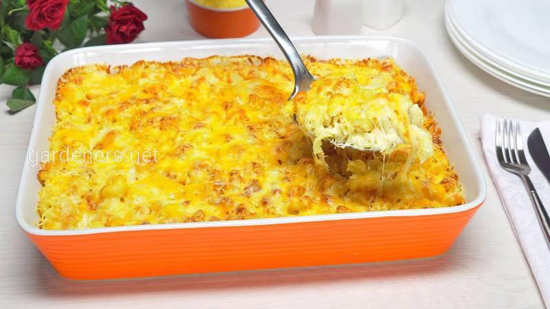 Картопляна запіканка з сьомгою і сирно-вершковим соусом. Рецепт