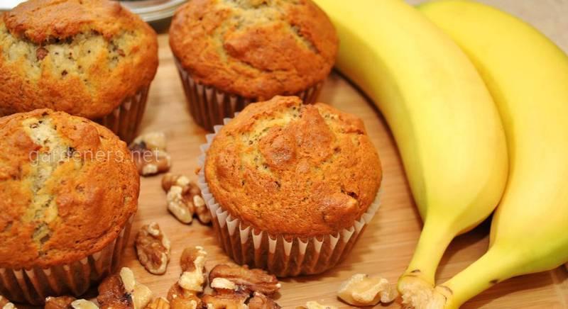 Полезные маффины с творогом и бананом. Рецепт