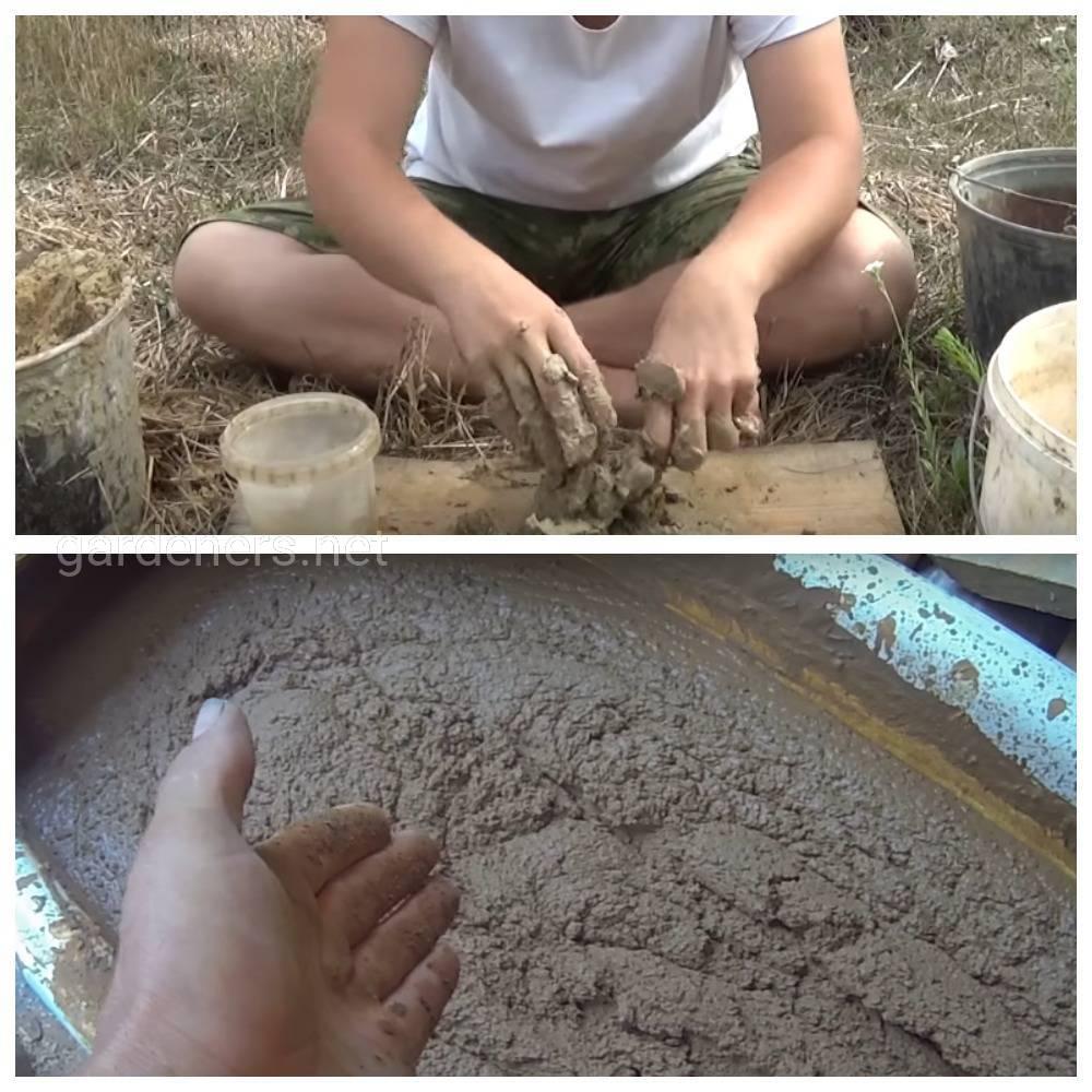 Виды растворов для строительства глиночурки